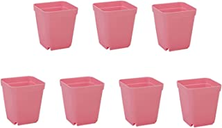 28Pcs Plastic Square Plants Greenhouse Nursery Trays Candy Color Flower Pots for Home Office Garden Decoration for Indoor ...