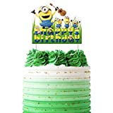Minions Cake Topper, DESPICABLE ME Birthday Collection of Minion Cake Toppers Decorations for Girls or Boys