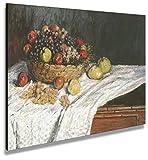 digitalpix Artenòr Quadro Monet Claude Natura Morta con UVA e Mele 1880 - Stampa su Tela Canvas Intelaiata - 90 x 67 cm