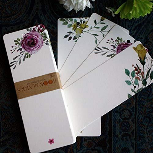 Askdasu DIY carta messaggio vuoto elegante modello fiore fai da te segnalibro etichetta regalo 40PCS