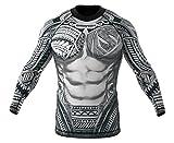 SMMASH Rashguard MAORI Camiseta de manga larga para hombre para MMA, UFC, BJJ (S)