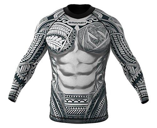 SMMASH Rashguard MAORI Camiseta de manga larga para hombre para MMA, UFC, BJJ (XS)