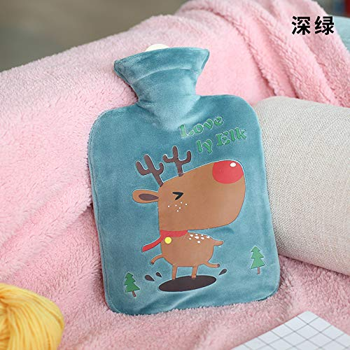Hot Water Bottles, 1Liter Cold Water Bag with Cover - Natural, Durable BPA Free Rubber - Hot/Ice Water Bag for Hot/ICY Compress and Heat Therapy, Warm Bag for Pain