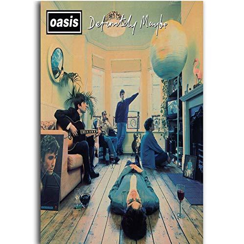 MZCYL Leinwand Malerei Wandkunst Bild Oasis Auf Jeden Fall Vielleicht Das Debütalbum Band Morgenstern Poster Drucken Leinwand Malerei Ohne Rahmen 40 * 60 cm