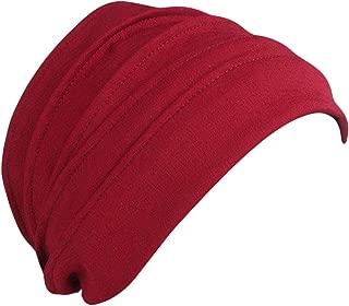 Jpwpowe Unisex Cotton Sleep Cap Cancer Beanie Muslim Turban Hair Loss Chemo Hat Pleated