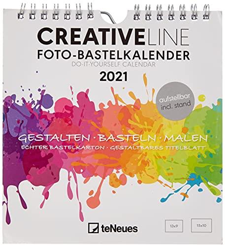 Foto-Bastelkalender weiß 2021 - Kreativ-Kalender - DIY-Kalender - Kalender-zum-basteln - 16x17 - datiert - aufstellbar