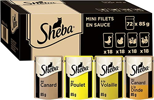 bon comparatif Sheva Mini Fillet Sauce-Fresh Bag-72 Bag X 85g Adult Cat Food un avis de 2021