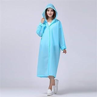 EVA Women Raincoat Thickened Waterproof Rain Coat Women Clear Transparent Camping Waterproof Rainwear Suit