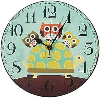 owl wall clock vintage