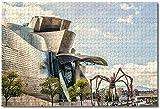 Smntt para Adultos 1000 Piezas Rompecabezas para Mini Puzzles de Museo Guggenheim Bilbao, España niños decoración del Juegos de Bricolaje