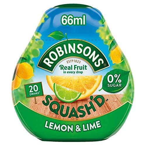 Robinsons SquashD Sin Adición De Limón Y Lima 66 Ml De Azúcar (Paquete de 2)