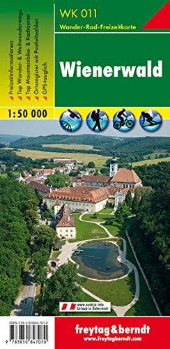 WK 011 Wienerwald, Wanderkarte 1:50.000: Wandel- en fietskaart 1:50 000