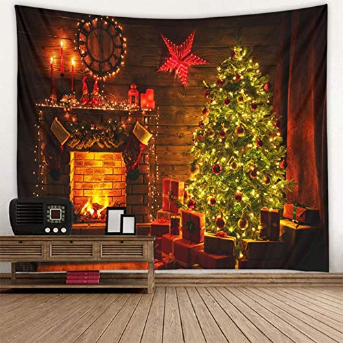Tapestry Christmas Tree Wall Hanging Christmas Fireplace For Home Deco Tapestries Christmas Tree Large Size Tapestries