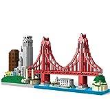 NeoLeo Architecture cityline Collection San Francisco Micro Building Kit Includes Alcatraz Model, Golden Gate Bridge and Other Architectural Landmarks (2969Pieces)