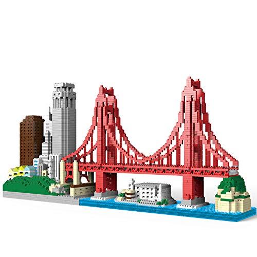 NeoLeo Architecture cityline Collection San Francisco Micro Building Kit Includes Alcatraz Model,...
