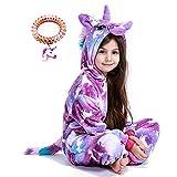 LANTOP - Pijama de unicornio para niños, regalo de Navidad, Halloween, cosplay - Morado - 10-11 años