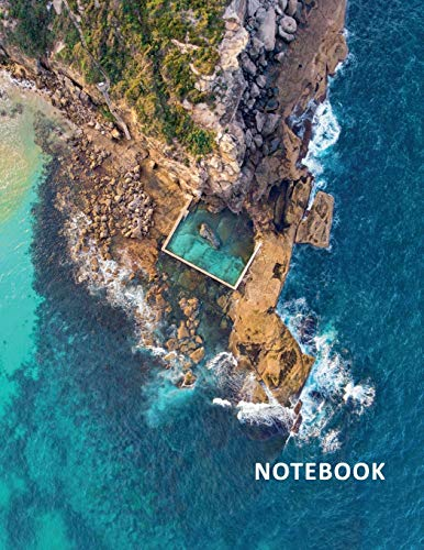 College Ruled Notebook: Ocean pool Australia convenient Student Composition Book Daily Journal Diary Notepad for planning a trip to curl curl beach sydney