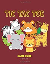 Tic Tac Toe Game Book: Travel Games for Kids, Over 1,200 Blank Paper Grid Games