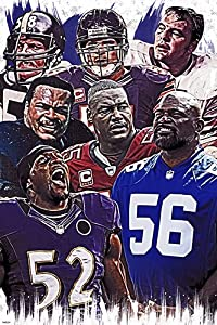 Top Football linebacker Legend Players Poster Home Decor Print 24x36