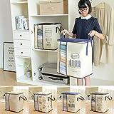 Kloius Home Large Capacity Kleidung Quilt Aufbewahrungstasche Organizer mit verstärktem Griff Schrankordnungssysteme