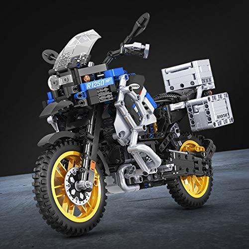 ColiCor Technic Modelo de Motocicleta 948pcs Juego de construcción de 1: 6 Technic Motocicleta Bloques para 42063 BMW R 1200 GS Adventure Motocicleta, Compatible con Lego Technic