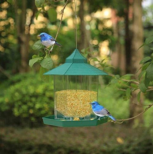 C-Xka Accesorios para pájaros, Alimentador de pájaros Colgantes Peanut Food Container Hanger Jardín Herramienta de alimentación al Aire Libre