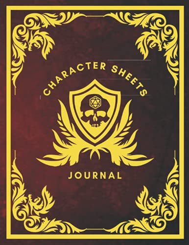 Character Sheets Journal: Fifteen (15) Detailed 5e Character Sheets, Blank, Hex And Graph Pages To Create Characters, Maps, Track 5e Gameplay, Plans, ... (Character Sheets Journal - 8 Cover Designs)