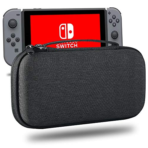 Carrying Case Fit for Nintendo Switch Lite-,Protective Hard Shell Travel Box for Nintendo Switch Lite Console & Accessories,Dark Gray