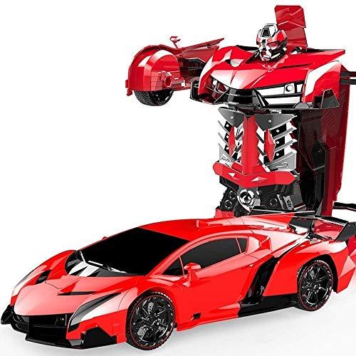 IBalody Kreative Red Transformer Remote Autobots Sportwagen 1:14 Wiederaufladbare Funkfernsteuerung RC Elektrische Gestenerkennung Spielzeug 4WD 360 ° Rotating Stunt Vehicle