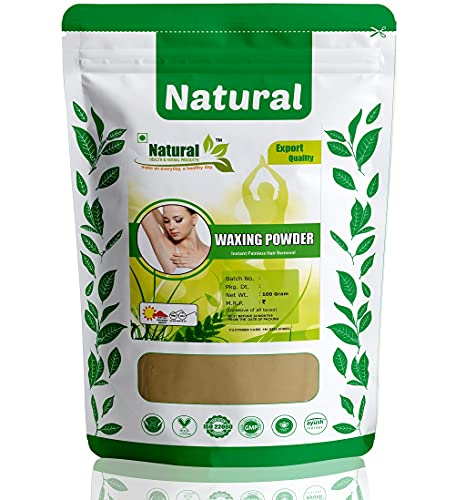Natural Health and Herbal Products Multani Mitti Flavour Waxing Powder Instant Hair Remover for All Types of Hair & Skin, Hands, Legs, Underarms, Bikini (Private Part) Area (Unisex adult,100 g)