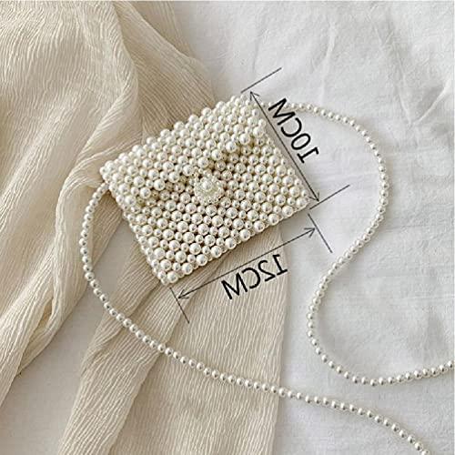 YAOYAN Bolso de estilo vintage con perlas, estilo casual, para mujeres y niñas, limpiador de moho, para paredes y eliminar el moho