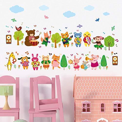 Hopeyard Animal Band Kinderkamer Kleuterschool Slaapkamer Woonkamer Kast Koelkast Indeling Muur Stickers