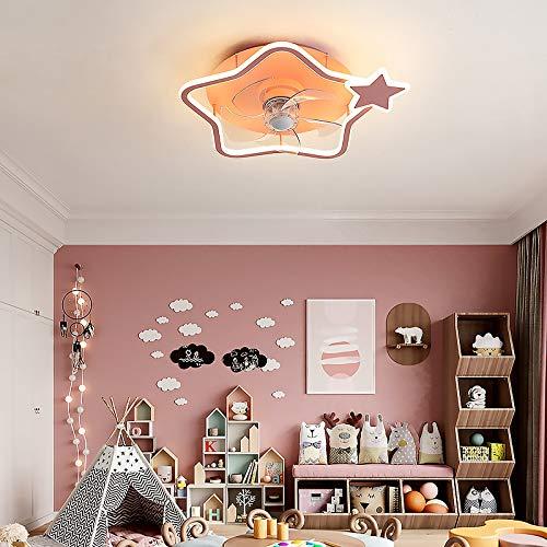 Guardería Lámpara Techo Creativo Estrella Ventilador De Techo Con Iluminación Regulable 3 Cambios De Color Lámpara De Ventilador Cuarto Sala Luz Del Ventilador Ajustable 3 Velocidades Luces Interior