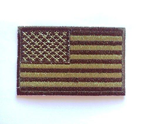 Parche de la bandera estadounidense parche/parche verde fahnenmax/colores kaki 7,5 cm