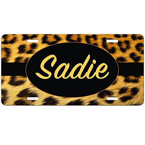 Lepoard Print Monogrammed Car Tag, Cheetah Print Fur Personalized License Plate, Monogram Car Tag, Car Tag, Vanity Plate, Auto Tag, Fantasy Decor.