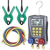 WZ-0031 Manometro di refrigerazione Tester di pressione del collettore di vuoto digitale Misuratore di riscaldamento Ventilazione e aria condizionata Tester di temperatura Kit di strumenti per valvole