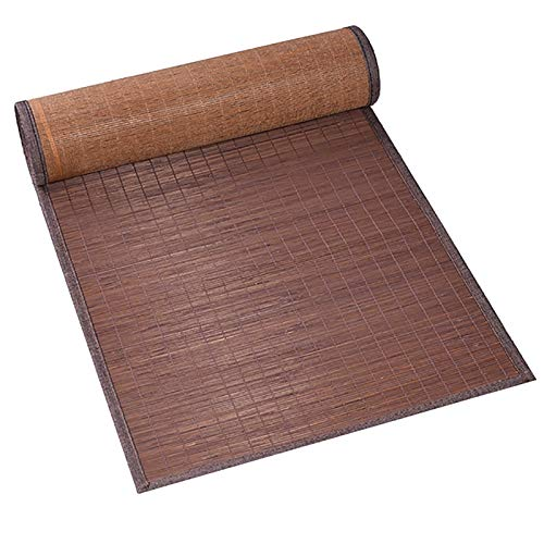 LiQi Corredor de Mesa Camino de Mesa de Bambú Retro con Dobladillo Marrón, Enrolle El Mantel Individual de Estilo Japonés, Decoración del Salón de Té del Restaurante (Size : 40×90cm/15.7 ×35in)