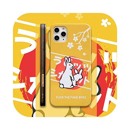 美しくホットファッション FR2四隅の飛散防止強化ガラス電話ケース(Appl Phone Xs MAXケースXR 11 pro用)-Beige-For iPhone 11 pro