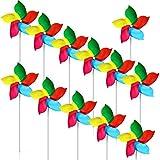 Woohome 50 Pz Girandole a Vento Arcobaleno Girandola di Plastica, Multicolore Girandola per Bambini per Il Giardino, Feste, Usare All'aperto, Decorazioni per Il Giardino