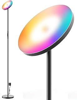 Wifi Smart RGBW+CCT Lampadaire led 25W Lampadaire Salon avec Luminosité Réglable Lampe sur Pied led Compatible avec Alexa ...