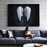 Anime Engelsflügel Wandkunst Leinwanddruck Engel Federn