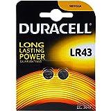 Pilas Duracell alcalinas de botón LR43 / Blister x2