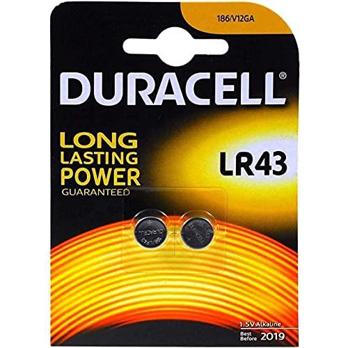 Duracell Alkaline Knopfzellen LR43 / Blister x2