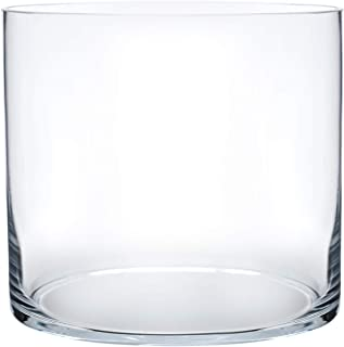 Royal Imports Flower Glass Vase Decorative Centerpiece for Home or Wedding Cylinder Shape, 5