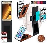 Hülle für Samsung Galaxy A5 (2017) Tasche Cover Hülle Bumper | Braun Leder | Testsieger
