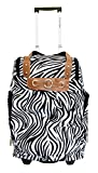 Trendy Flyer 19' Duffel/tote Bag Gym Luggage Case Wheel Purse (Zebra)
