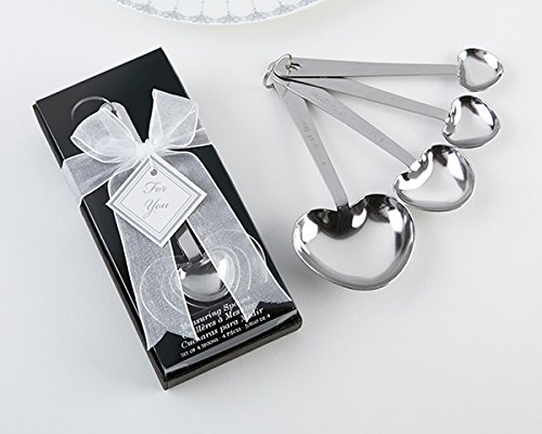 Love Beyond Measure Heart Measuring Spoons in Gift Box set of 24