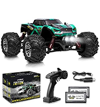 1 20 Scale RC Cars 30+ kmh High Speed - Boys Remote Control Car 4x4 Off Road Monster Truck Electric - 4WD All Terrain Waterproof Toys Trucks for Kids and Adults - 2 Batteries for 40+ Min Play Time