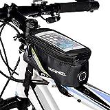 Roswheel Bolsa para teléfono móvil de Bicicleta, Bolsa de Almacenamiento de Tubo de Marco Superior de Pantalla táctil de 5,5 Pulgadas Verde