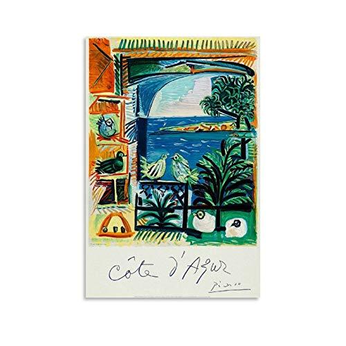 ZUNZUN French Riviera Poster dekorative Malerei Leinwand Wandkunst Wohnzimmer Poster Schlafzimmer Malerei 12x18inch(30x45cm)
